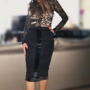 Yves Saint Laurent Skirts - Yves Saint Laurent Vintage Tuxedo Skirt SZ36